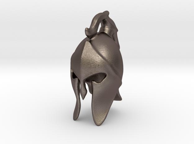 Spartan Helmet in Polished Bronzed-Silver Steel