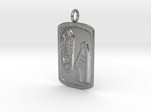 Adidas Pendant (Dog tag)  in Natural Silver