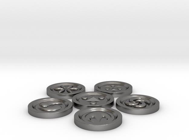 Zelda Sage Medallions - All in Polished Nickel Steel