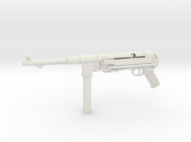 1/3 Scale MP40 Machine Gun in White Natural Versatile Plastic