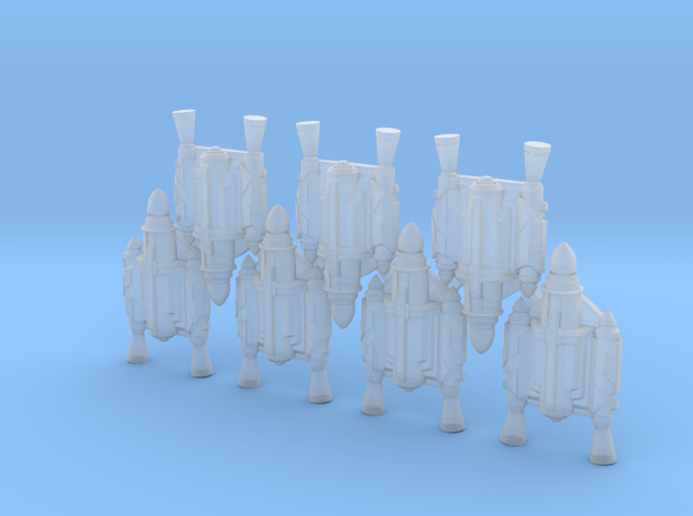 Father Jetpacks (x7) in Smoothest Fine Detail Plastic