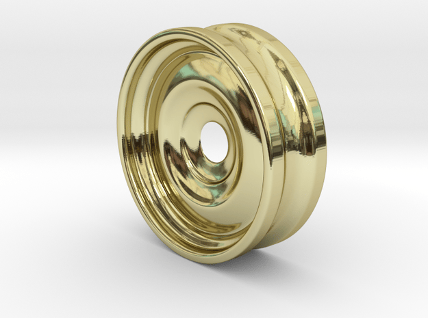 Stretcher : Tunnel with interior detail in 18K Yellow Gold