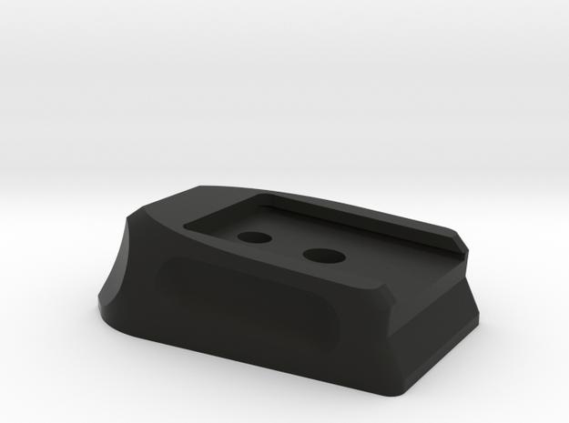 Deranged PPQ baseplate in Black Natural Versatile Plastic