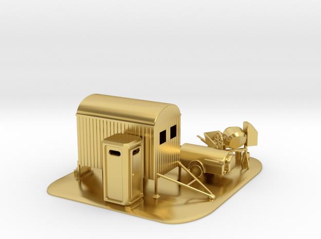 Baustellen Set 3 Spur N 1:160  in Polished Brass