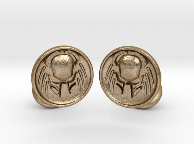 Predator Cufflinks in Polished Gold Steel