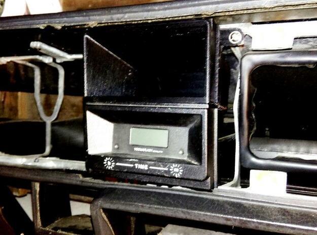 Lancia Delta Compartment Cockpit in White Processed Versatile Plastic