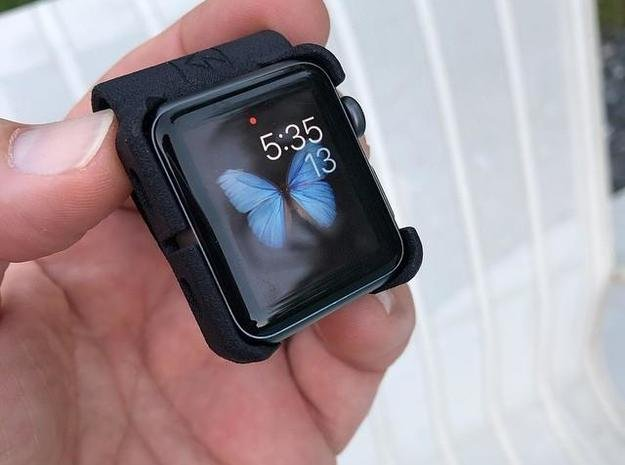 Apple Watch - 42mm Clip On in Black Natural Versatile Plastic