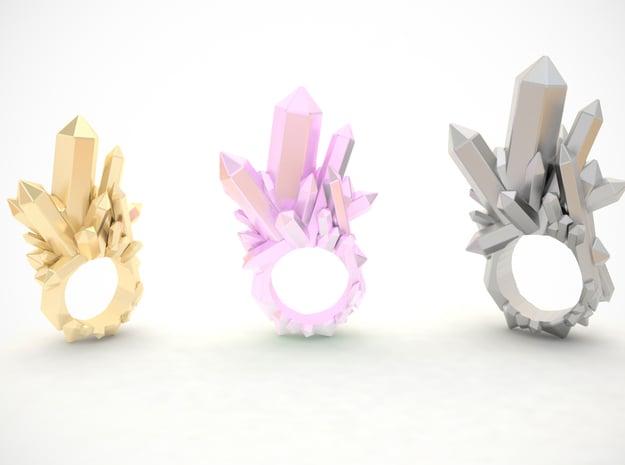 Crystal Ring D18 in 14k Rose Gold