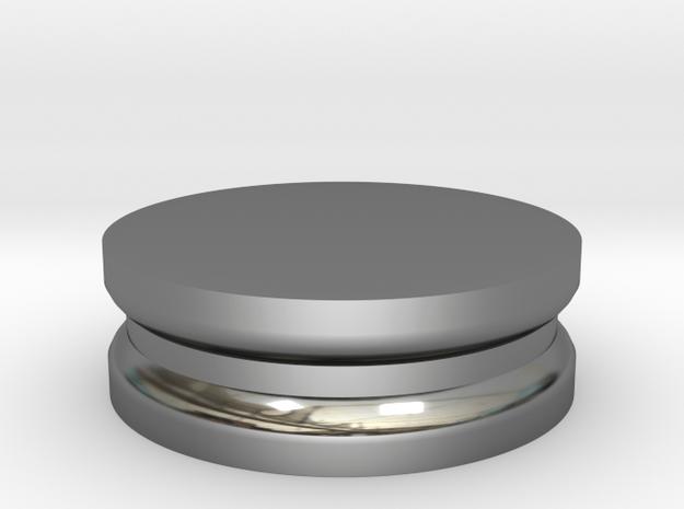 Stretcher : Plug in Fine Detail Polished Silver