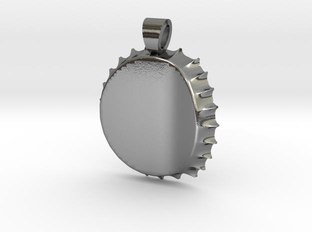 Recycled capsule [pendant] in Polished Silver
