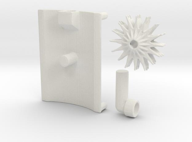 Transformers_WFC_Siege_Shield in White Natural Versatile Plastic
