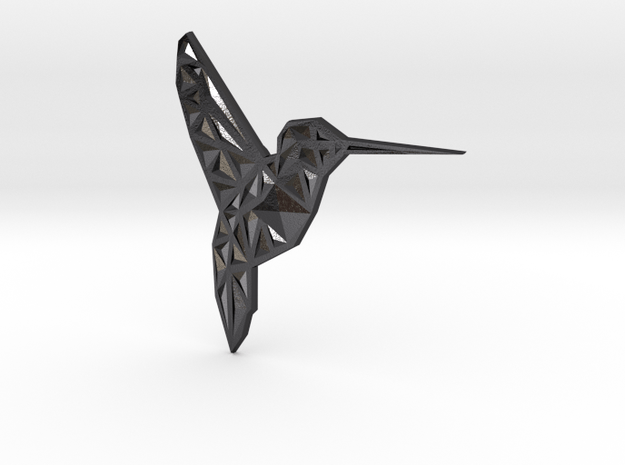 Hummingbird  in Polished and Bronzed Black Steel