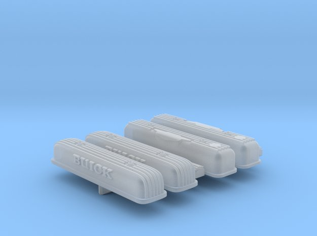 1/25 Buick Nailhead Valve cover set in Smooth Fine Detail Plastic