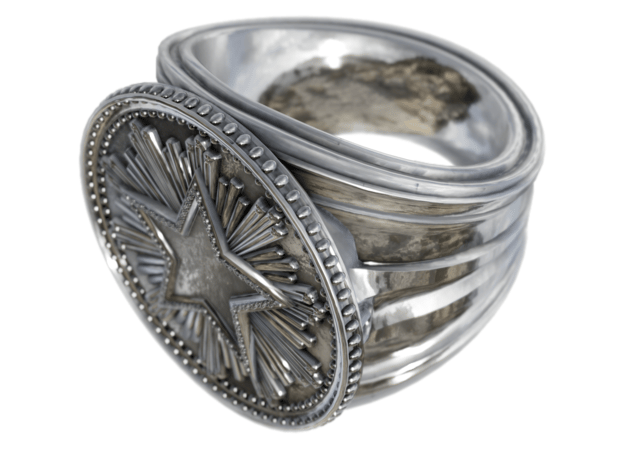 CS:GO - Service Medal Ring in Fine Detail Polished Silver