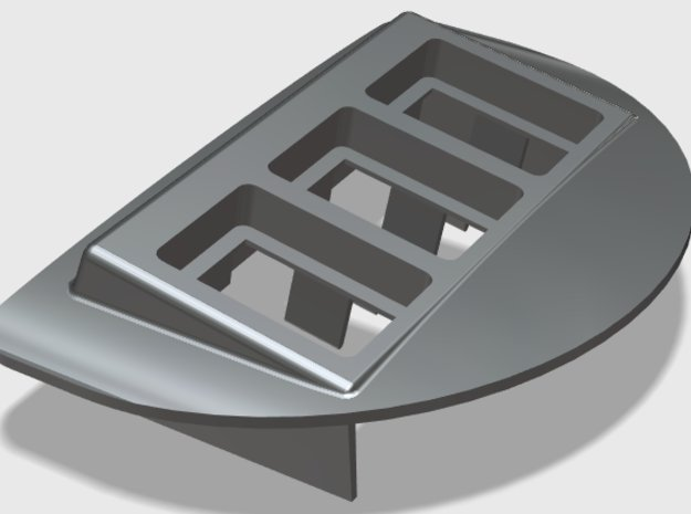 3xTSP Ash Tray Pod (Angled & Rounded) in Black Natural Versatile Plastic