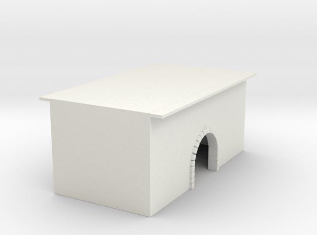 Wasserdurchlasstunnel Brücke gemauerter Bogen 1:16 in White Natural Versatile Plastic