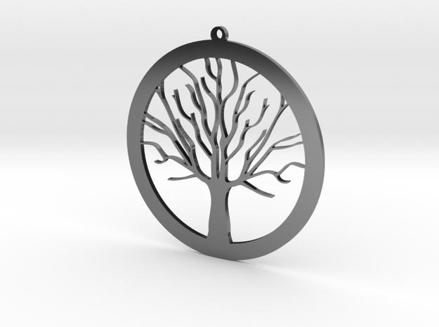 Tree Pendant in Antique Silver