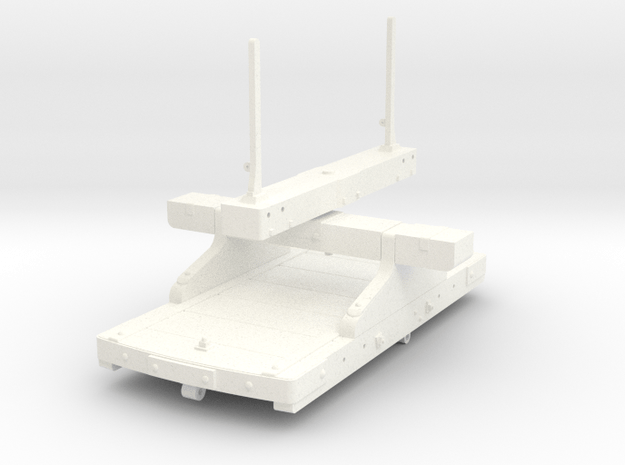 FRB05 - FR Bolster Wagon (Braked) SM32 in White Processed Versatile Plastic