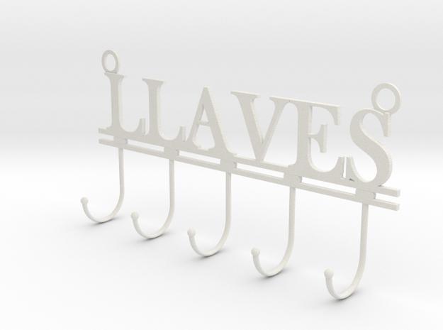 Colgador de llaves in White Natural Versatile Plastic