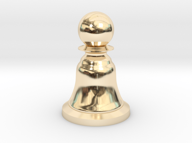 Pawn Black - Bell Series in 14K Yellow Gold
