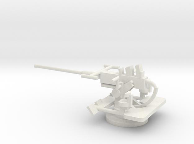 1/72 Scale 40mm Bofor Mk3 in White Natural Versatile Plastic