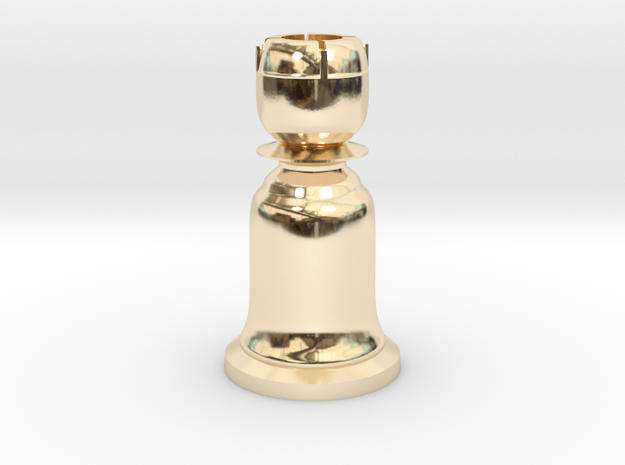 Rook Black - Bell Series in 14K Yellow Gold