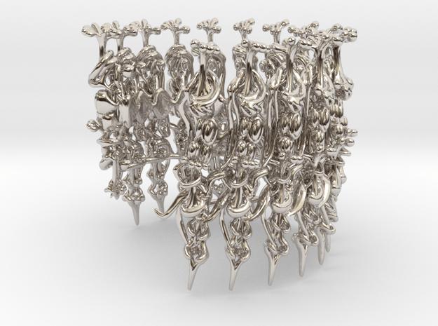 Harmonica Bracelet in Rhodium Plated Brass