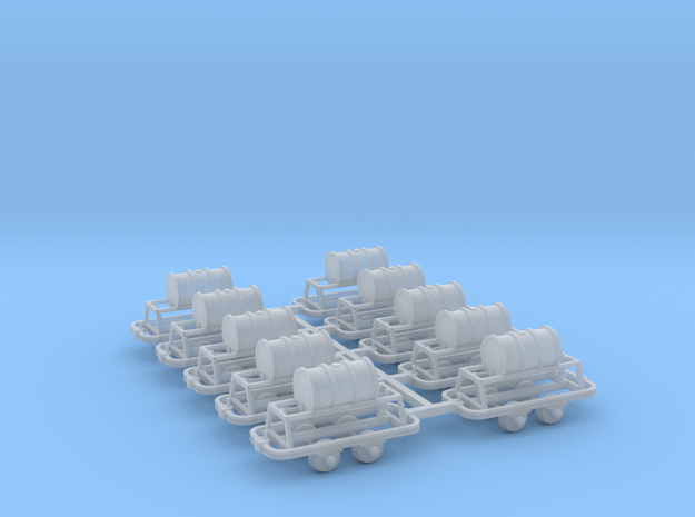 Benzinfaßlore(1Faß) 10erSet - TTf 1:120 in Smooth Fine Detail Plastic