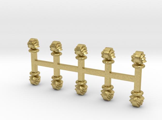 Muschel-Lüfter 10er Set Messing - 1:120 in Natural Brass