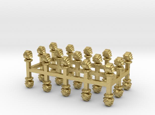 Muschel-Lüfter 30er Set Messing - 1:120 in Natural Brass
