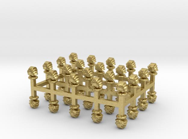 Muschel-Lüfter 40er Set Messing - 1:120 in Natural Brass