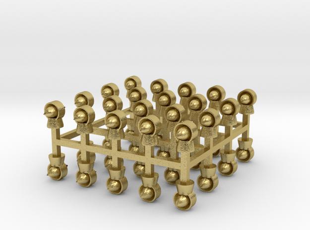 Torpedolüfter 40er Set Messing - 1:120 in Natural Brass