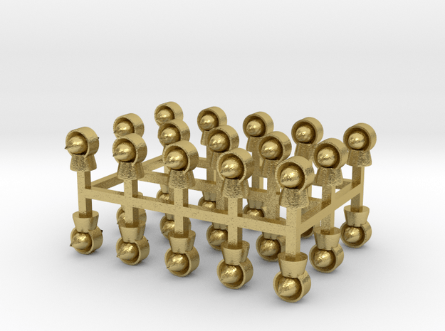 Torpedolüfter 30er Set Messing - 1:120 in Natural Brass