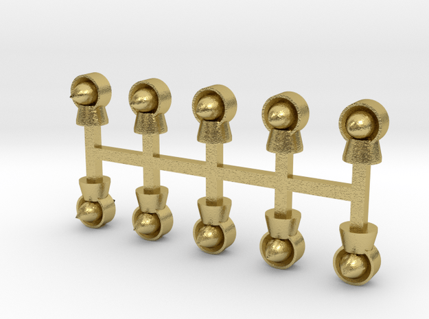 Torpedolüfter 10er Set Messing - 1:120 in Natural Brass