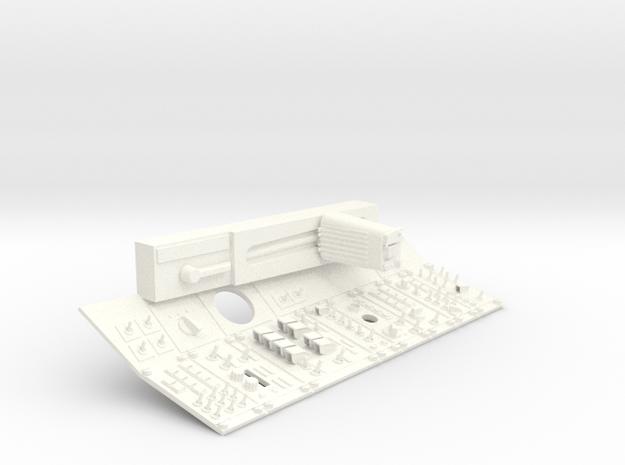 1.7 S27 / SU30 SIDE PANEL GAUCHE in White Processed Versatile Plastic