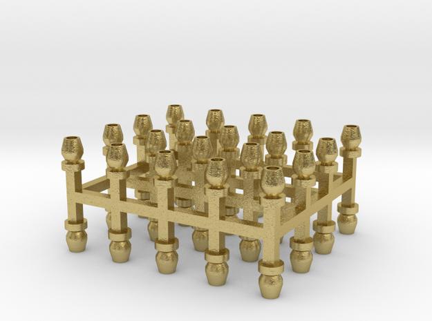 Sächsische Lüfter 40er Set Messing - 1:120 in Natural Brass