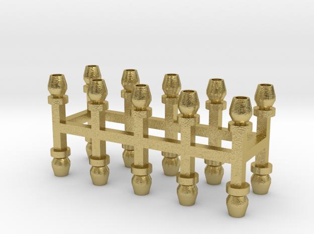 Sächsische Lüfter 20er Set Messing - 1:120 in Natural Brass