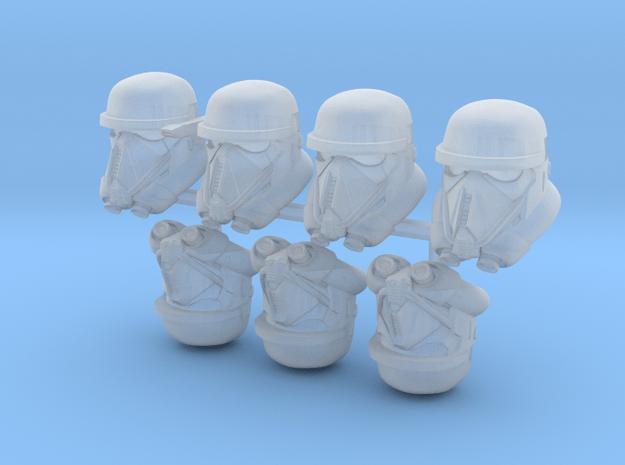 Dead Bucketheads (x7) in Smoothest Fine Detail Plastic