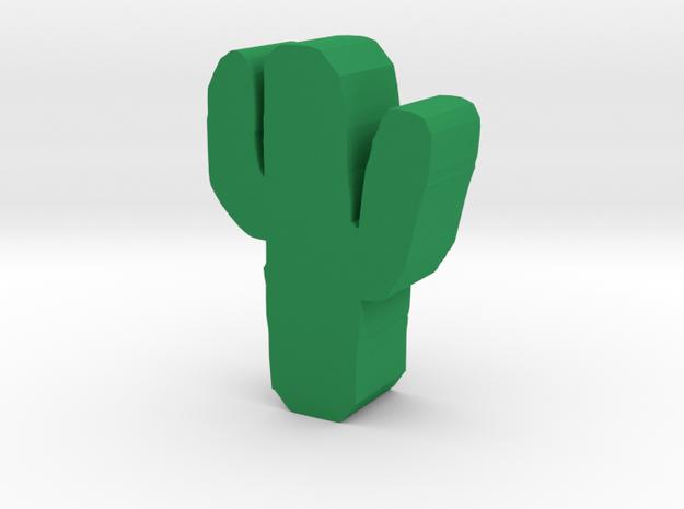 Cute Cactus in Green Processed Versatile Plastic