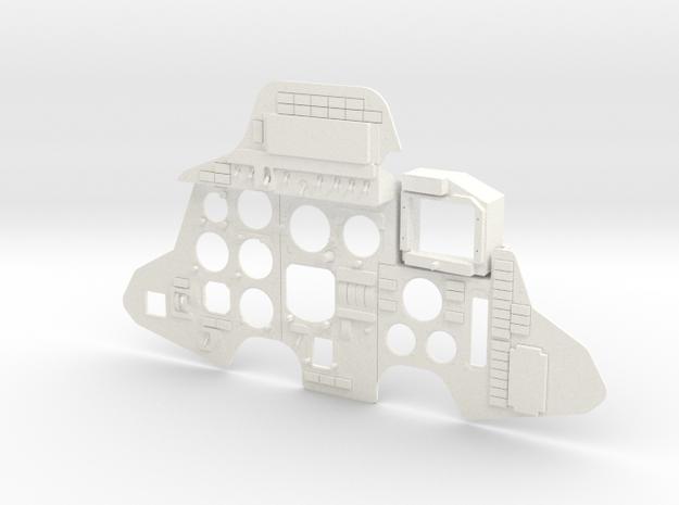 1.7 SU 27 / SU 30 DASH BOARD ARRIERE in White Processed Versatile Plastic