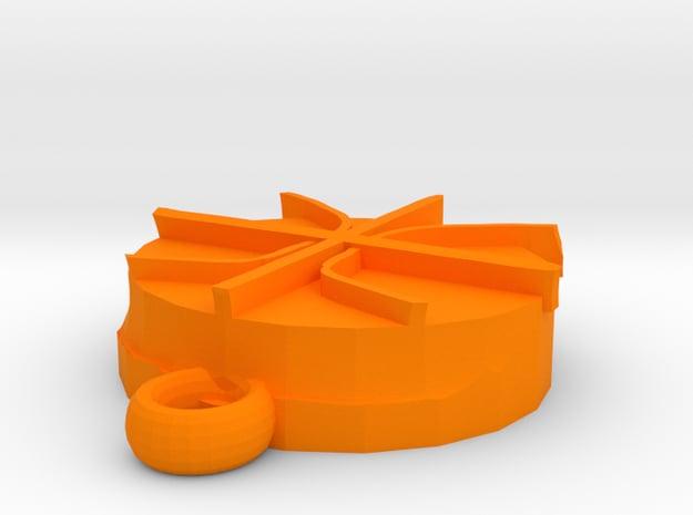 Basketball Keychain in Orange Processed Versatile Plastic