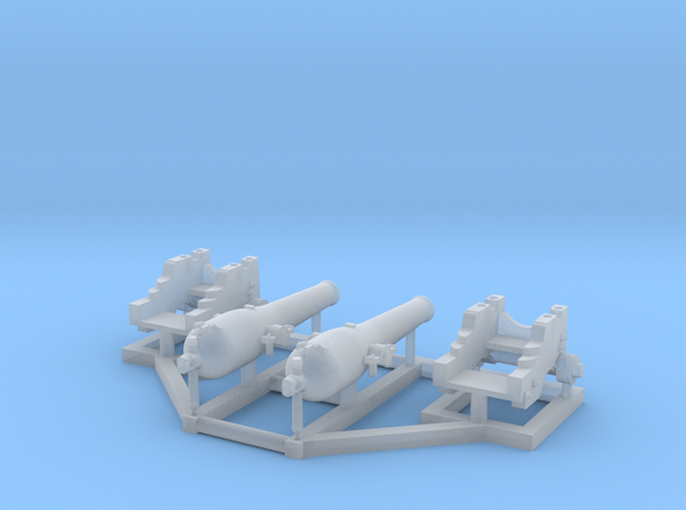 2 X 1/192 Dahlgren IX Smoothbore Cannon in Smooth Fine Detail Plastic