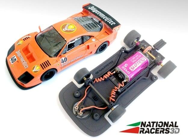 3D Chassis - FLY Ferrari F40 (Combo) in Black Natural Versatile Plastic