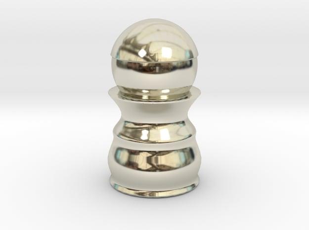 Pawn White - Bullet Series in 14k White Gold