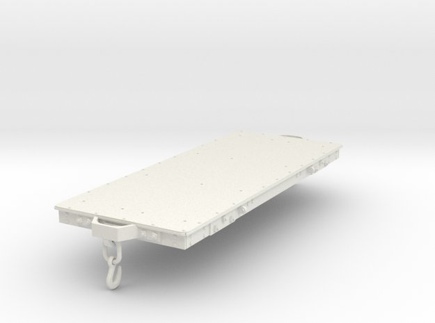 FRC04a FR Long Slab Wagon with Couplings SM32 in White Natural Versatile Plastic