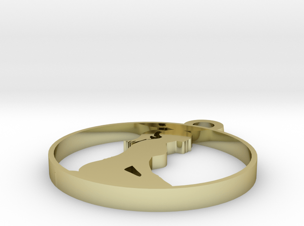 yoga  in 18k Gold Plated Brass