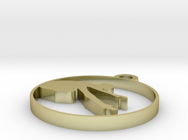 yoga 8 in 18k Gold Plated Brass