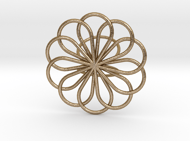 Scarf Brooch in Polished Gold Steel