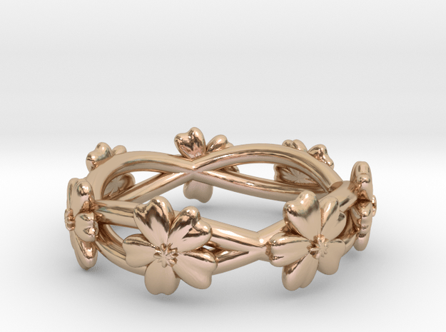 Forget Me Not Ring in 14k Rose Gold Plated Brass: 6 / 51.5