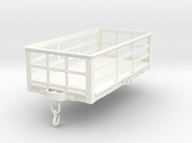 FRC02 LNWR 2 Ton Slate Wagon Unbraked SM32 in White Processed Versatile Plastic